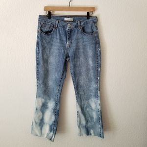 Levi's Bleach Dyed Cropped Jeans 10